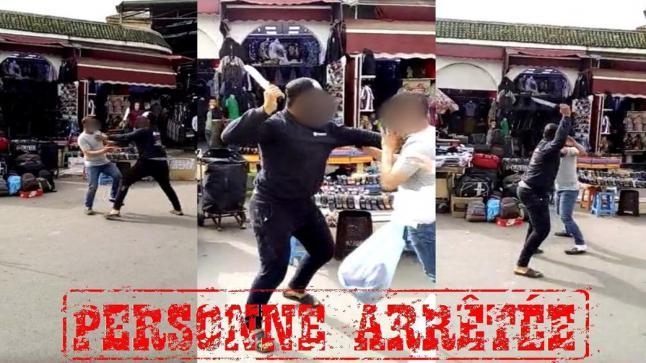 الأمن يدخل على خط فيديو تعريض شخص لاعتداء بواسطة السلاح الأبيض