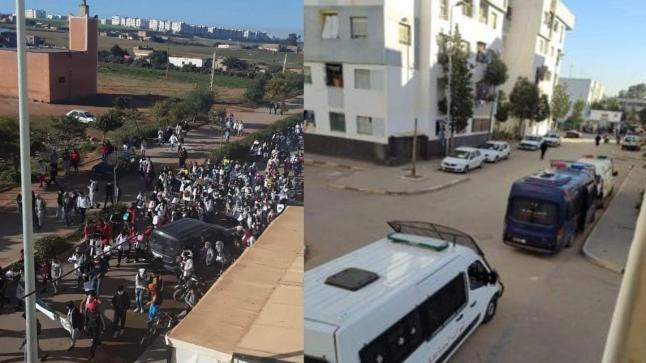 مسيرة تلاميذية تندد بالعنف ضد الأساتذة المتعاقدين