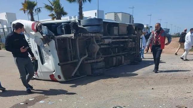 حادث سير يخلف إصابة 19 شخصا بطريق حد السوالم نواحي برشيد