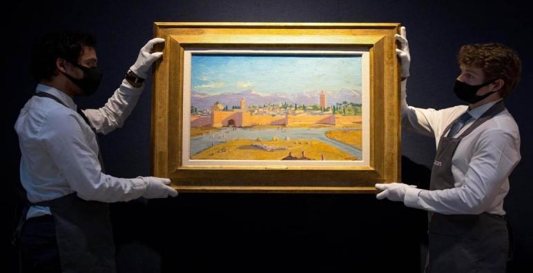 بيع لوحة تشرشل التي تجسد مسجد الكتبية بـ 8,1 مليون يورو
