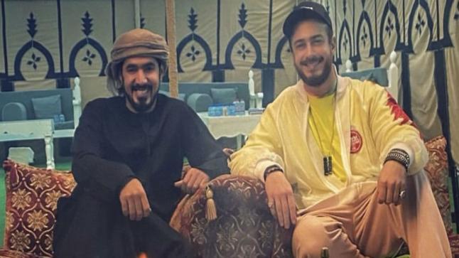 سعد لمجرد يحل ضيفا على أحد أفراد الأسرة الحاكمة في الإمارات
