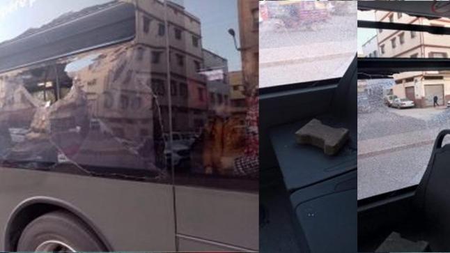 الدار البيضاء.. تحطيم زجاد حافلة من الأسطول الجديد في أقل من 24 ساعة