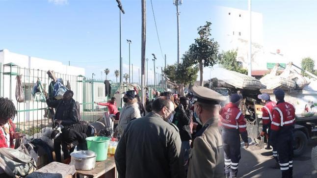 الدار البيضاء.. إخلاء محيط محطة ولاد زيان من المهاجرين الأفارقة