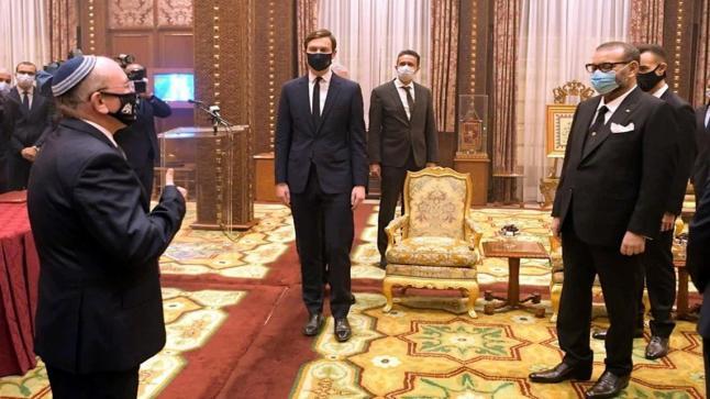 الملك محمد السادس يستقبل كوشنر و بن شبات و بيركوفيتش بالقصر الملكي
