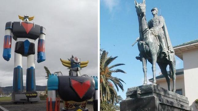 """نشطاء يطالبون تغيير تمثال """"ليوطي"""" بـ""""غرندايزر"""" بالدار البيضاء"""