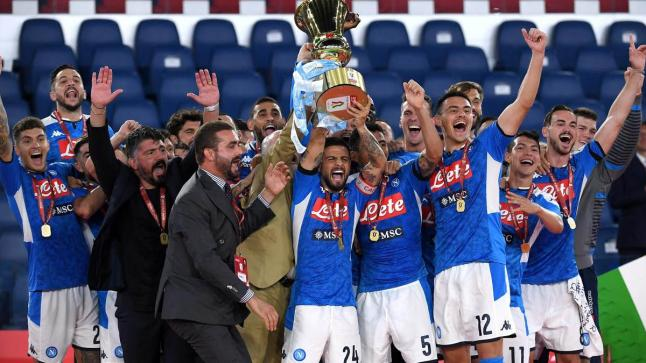 نابولي يتوج بكأس إيطاليا على حساب يوفنتوس