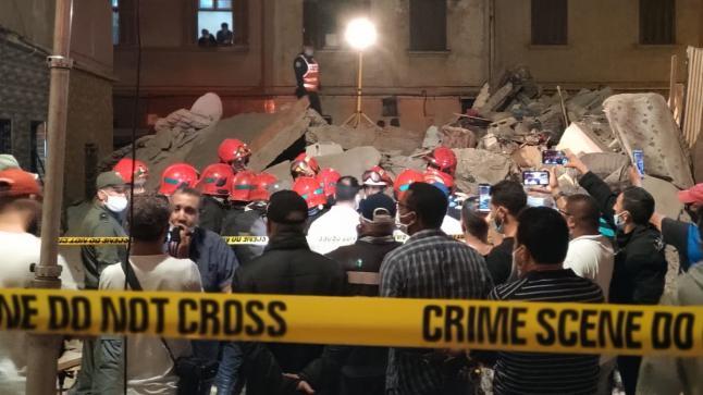 مصرع شخص في انهيار منزل بمقاطعة سباتة بالدارالبيضاء