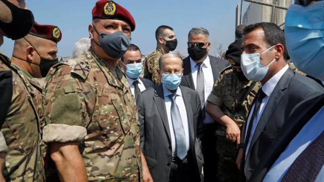 """الرئيس اللبناني لا يستبعد نظرية """"انفجار مرفأ بيروت بفعل فاعل"""""""