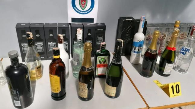 ضبط كمية مهمة من المشروبات الكحولية المهربة والمنتهية الصلاحية