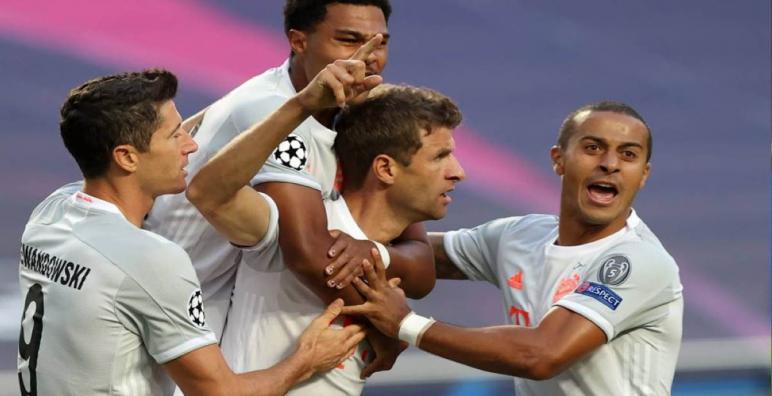 بايرن ميونخ يفوز على برشلونة بنتيجة كبيرة ويمر لنصف نهائي الأبطال