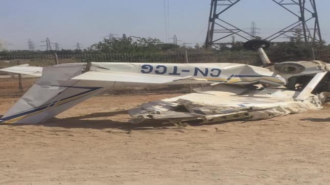 مصرع شخصين إثر سقوط طائرة بالقنيطرة وفتح تحقيق في الحادث